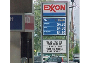 create a funny gas / petrol station sign