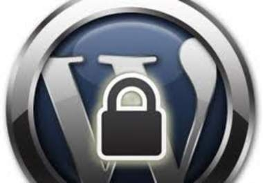 install a secure wordpress blog for you