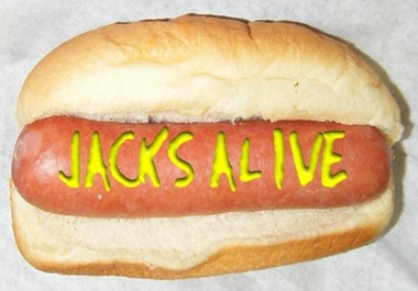 write your message in mustard on a hot dog